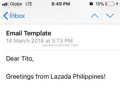Lazada Philippines Shipping Service review 276928