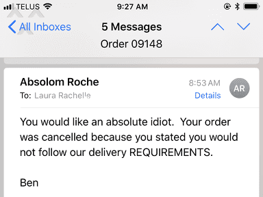 Absolom Roche - Got called an idiot by customer service