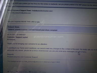 Pissed Consumer Customer Care review 221562