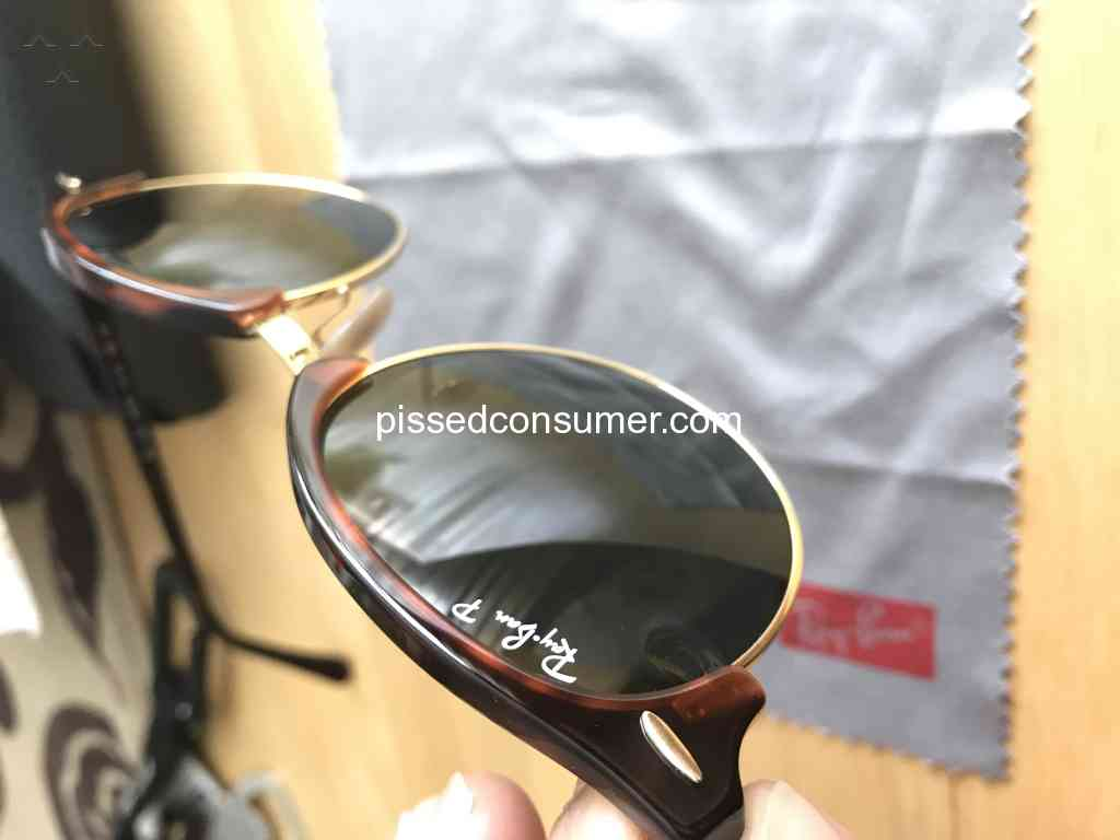 7194087476c Sunglass Hut - The glass is chipped and I want my refund!