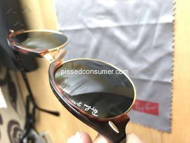 Sunglass Hut - The glass is chipped and I want my refund!