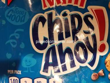 I recommend this company to future customers - Chips Ahoy