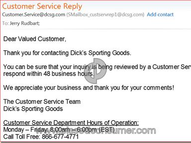 Dicks Sporting Goods Sport review 53443