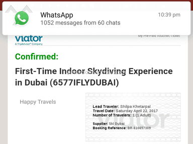 Viator First-time Indoor Skydiving Experience In Dubai Event Ticket review 204080