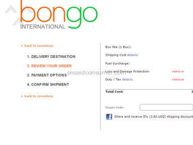 Bongo Us Fedex Crossborder Delivery Service review 130519