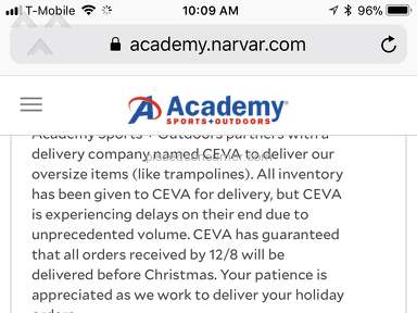 Ceva Logistics - Never order if Ceva is delivery company.
