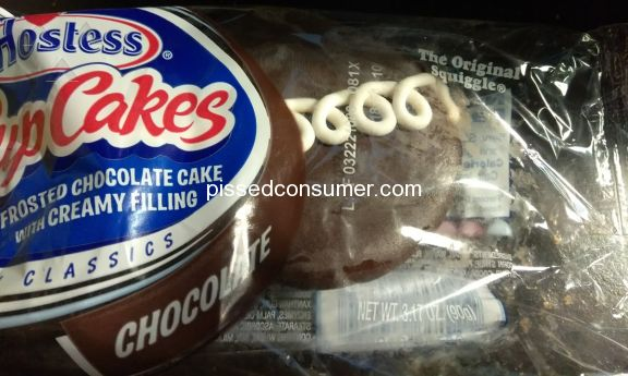 Hostess Brands Frosted Chocolate With Creamy Filling Cupcake