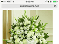 Avasflowers White Sympathy Standing Basket Flower Basket Review from Round Lake, Illinois