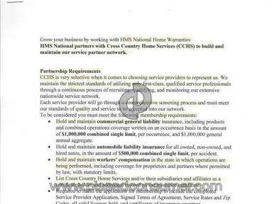 HMS Home Warranty Warranty review 65741