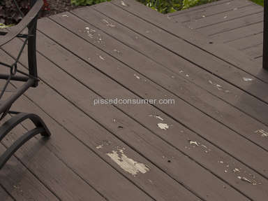 Behr - Peeling off my entire deck