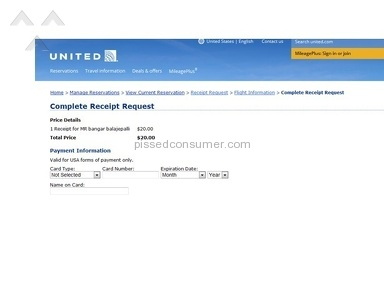 United Airlines Flight review 105359