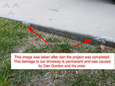 Gordons Lawn And Landscape - Dan Gordon of Gordon's Lawn and Landscaping blamed us for his bad work
