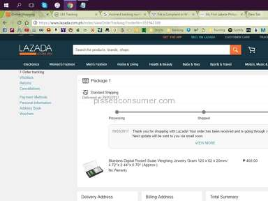 Lazada Philippines Lazada Express Delivery Service review 200170