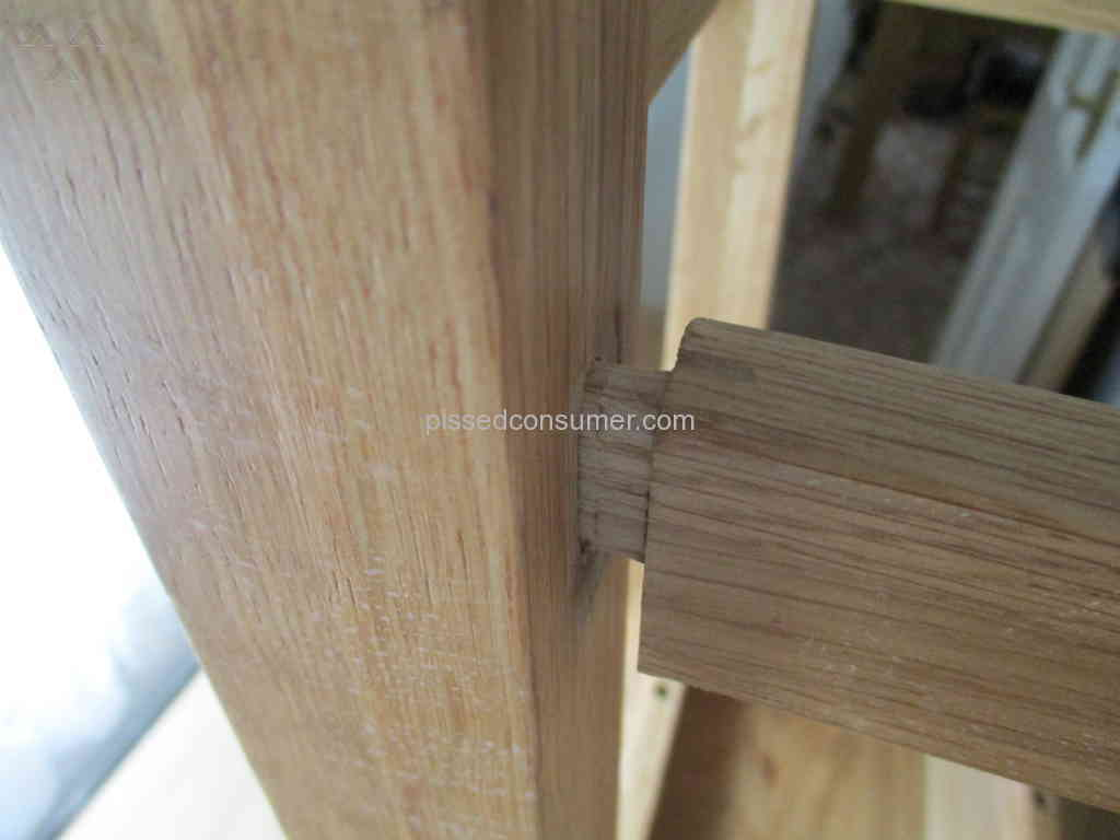Oak Furniture Solutions   Joints Coming Apart In Stools Of Breakfast Set