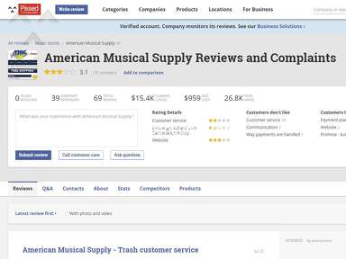 American Musical Supply Music stores review 325488