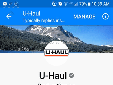 UHaul - I will never try to rent a truck from U Haul