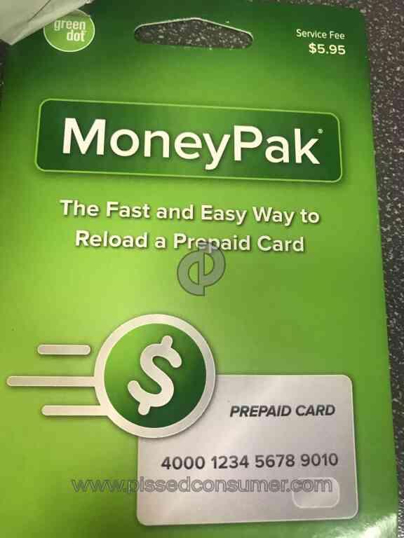 green dot moneypak money pak - Reloadable Prepaid Cards