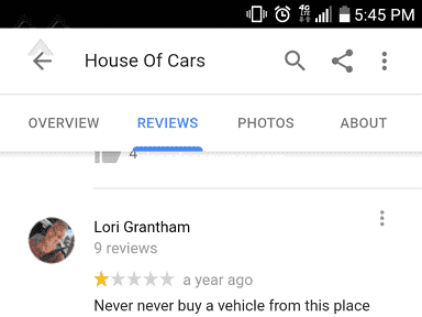 House Of Cars Auto Sales Dealers review 359296