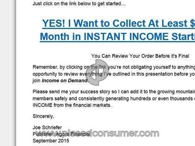 Agora Financial Finance Advertisement review 139487
