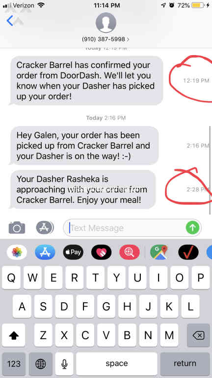 1046 DoorDash Reviews and Complaints with Media Page 11 @ Pissed