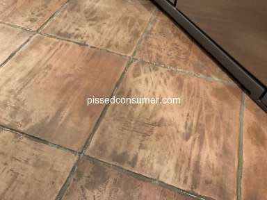 Stanley Steemer - HORRIBLE tile cleaning