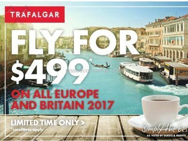 Trafalgar Tours - False Advertisement:Fly for $499 on all Europe and Britain 2017