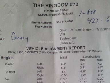 Tire Kingdom - Bad Service Bad work