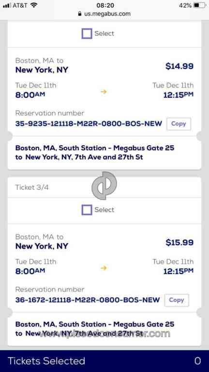 116 Megabus Bus Ticket Booking Reviews and Complaints Page 5