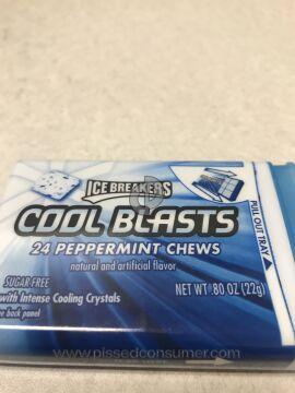 Hershey Ice Breakers Cool Blasts Chewing Gum