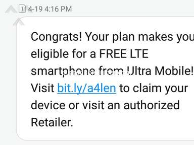 Ultra Mobile - No coverage + They promised a smartphone that was never delivered