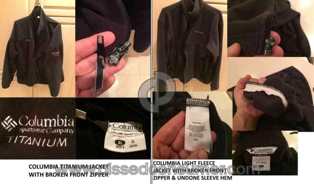 3a7f123de Columbia Sportswear - BAD CUSTOMER SERVICE FOR LIFETIME WARRANTY ON ...