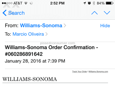 Williams Sonoma Customer Care review 119875