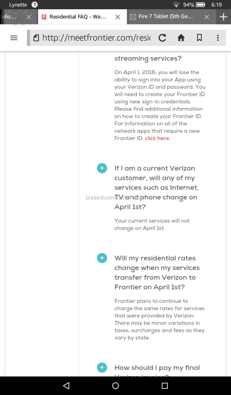frontier communications internet service review from azusa california