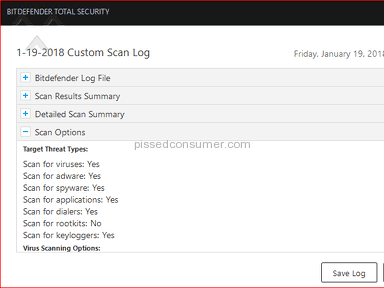 Bitdefender Total Security 2018, Full & Custom Scans... NOT Scanning Emails or for Rootkits