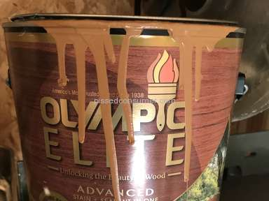 Olympic Paint And Stain - Very disappointed