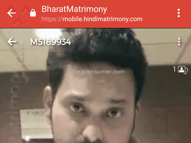 Fake Bharat matrimony profile ID M5189934