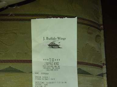 J Buffalo Wings - Overcharged and Order Not Correct