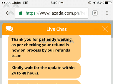 Lazada Philippines Customer Care review 254610