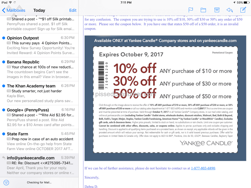 graphic regarding Yankee Candle Printable Coupons identified as Yankee Candle - Will not honor their coupon Feb 04, 2018