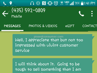 Vivint Customer Care review 149140