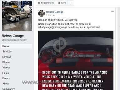 Rehab Garage smoke & mirrors