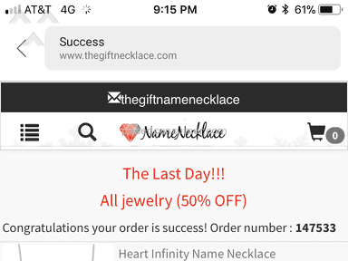 Thegiftnecklace - Sorry I purchased this