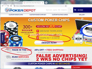 The Poker Depot - WORST SHIPING / CUSTOMER SERVICE
