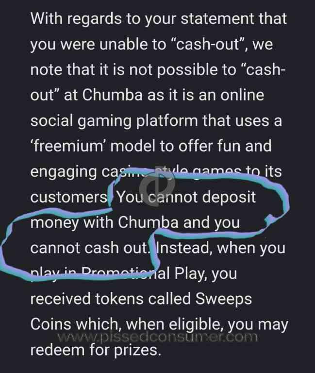 Chumba Casino Complaints