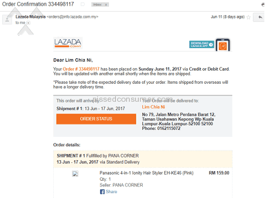 Lazada Malaysia - Bad response on late delivery from LAZADA