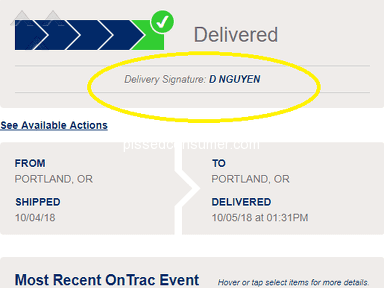 OnTrac - Very Bad Shipping Carrier
