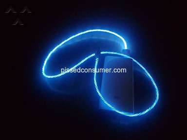Dresslily - Flowing Blue Led cable