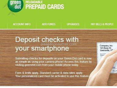 Green Dot Corporation - Photo deposit check