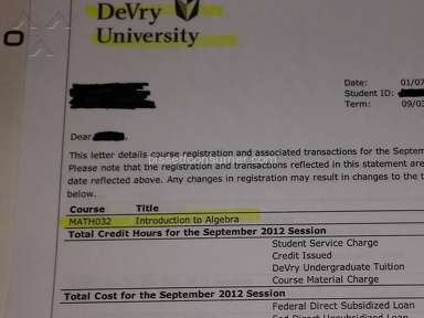 Devry University - Devry refuses to release transcript; Feb 15 ...