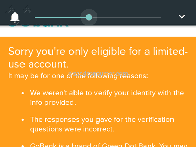 Gobank - Need to verify my existence